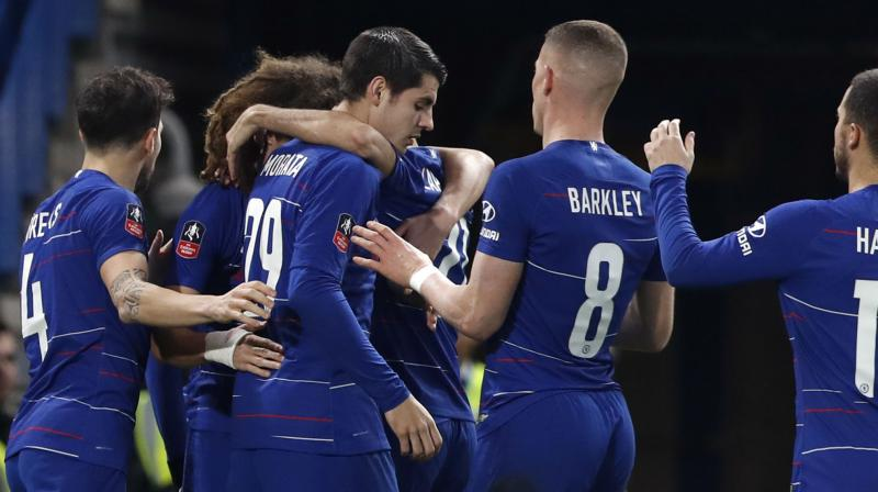 Alvaro Morata's second-half brace was enough for Chelsea, who beat United in last year's final, to move through. (Photo: AP)