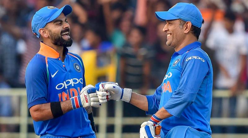 Although the Jharkhand cricketer has won two World Cup titles for the Men in Blue, comparisons with Kohli have been endless given flamboyant batsman's accolades in all three formats – both as batsman and captain. (Photo: PTI)