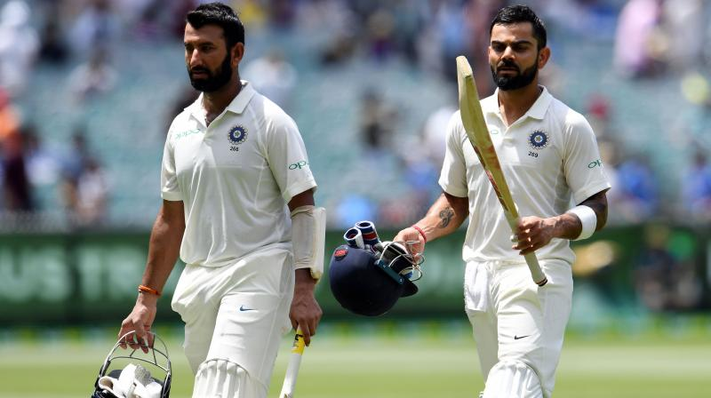 The series Down Under was a far cry from the tour of England where Pujara was dropped at the start of the series, which India lost 1-4. (Photo: AFP)