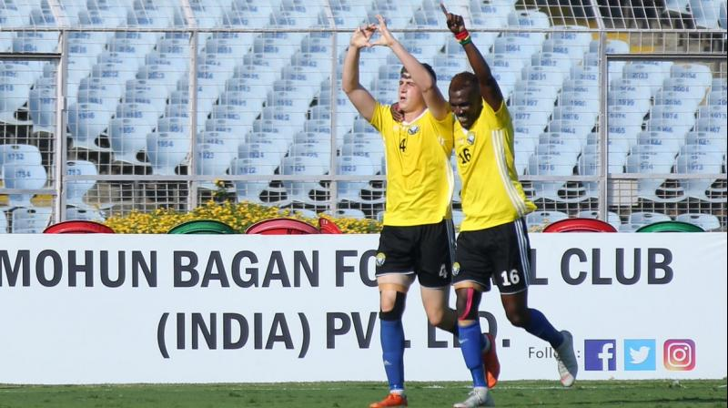 The team's sixth victory was achieved on the back of a brace by Mason Robertson, who struck in the 33rd and 74th minute. (Photo: I-League/Twitter)
