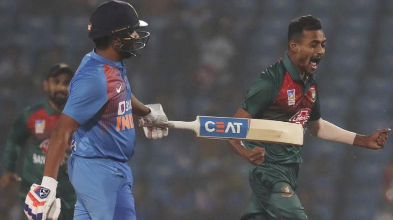 Lately, India's vice-captain Rohit Sharma's name has been floating all around. During the the recently concluded T20I series against Bangladesh, the stand-in skipper has broken many records and has even set a few records, which is very unusual and rare. (Photo:AP)