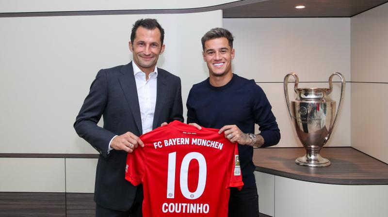 Barcelona's Philippe Coutinho has joined Bayern Munich on a one-year loan worth 8.5 million euros. (Photo: Twitter/Bayern Munich)