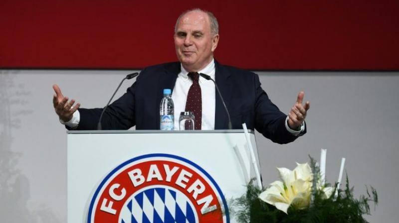 Uli Hoeness has confirmed he is stepping down as president of Bundesliga giants Bayern Munich and will not stand for re-election in November. (Photo: AFP)