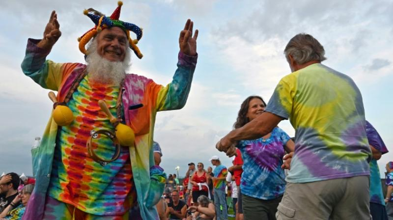 Fellow hippies a deadpan warning: 'Don't take the brown antacid.' (Photo: AFP)