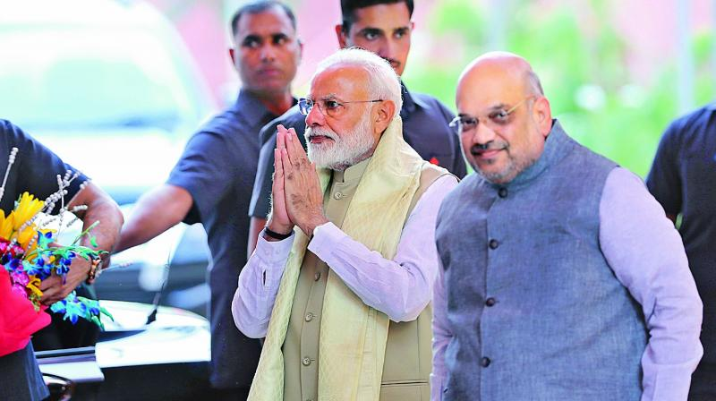 Prime Minister Narendra Modi and BJP president Amit Shah (Photo: AP)