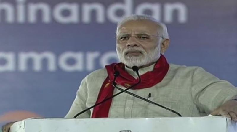 Prime Minister Narendra Modi said, 'Digital technology, digital literacy, and digital India should be the focus of a good government.' (Photo: Twitter | ANI)