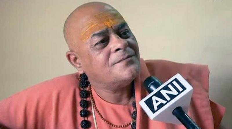Swami Akhileshwaranand Giri said formation of cow ministry will attract even more budget into Madhya Pradesh and that he wanted the cow to be removed from the category of animal. (Photo: ANI)