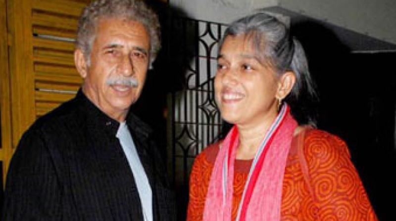 Theatre artists Ratna Pathak Shah and Naseeruddin Shah.