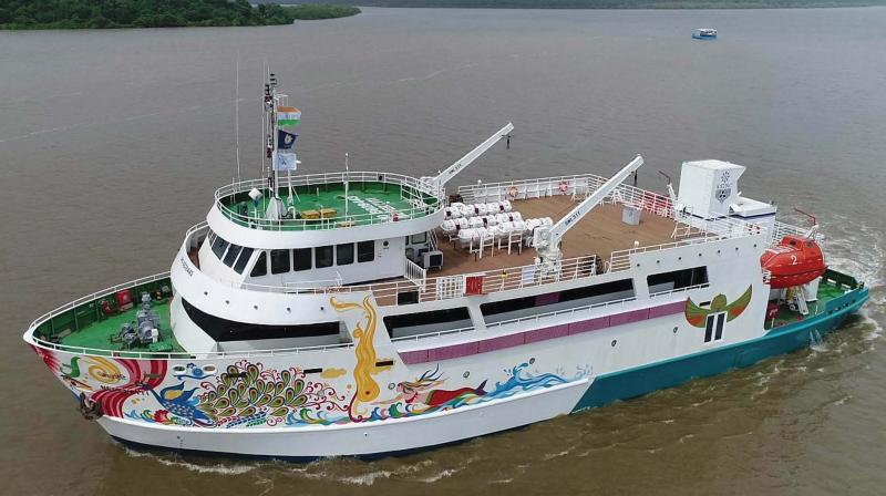 The Kerala Shipping and Inland Navigation Corporation (KSINC) has started group bookings with the ship expected to get 'Bar licence' in two weeks.