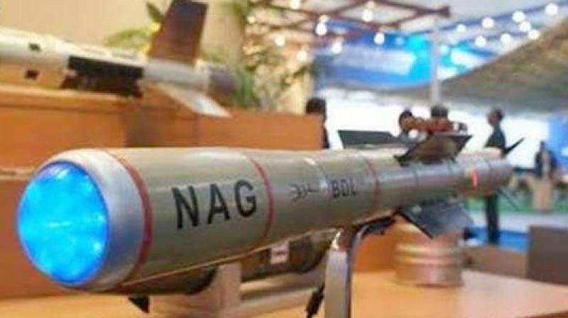 The successful induction of the NAG missile into the Army is expected to give a quantum boost to the Army's capability against enemy armour. (Photo: ANI)