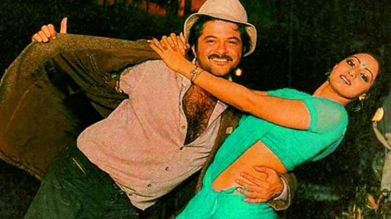 Anil Kapoor and Sridevi