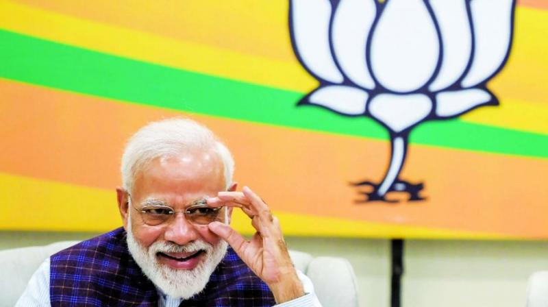 The BJP-NDA hosted a dinner in New Delhi to felicitate Prime Minister Narendra Modi's five years in office as the allies prepared to get down to work in government.