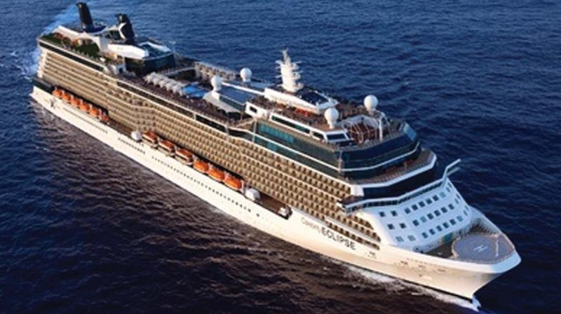 A 11-storey cruise liner going to the Antarctica