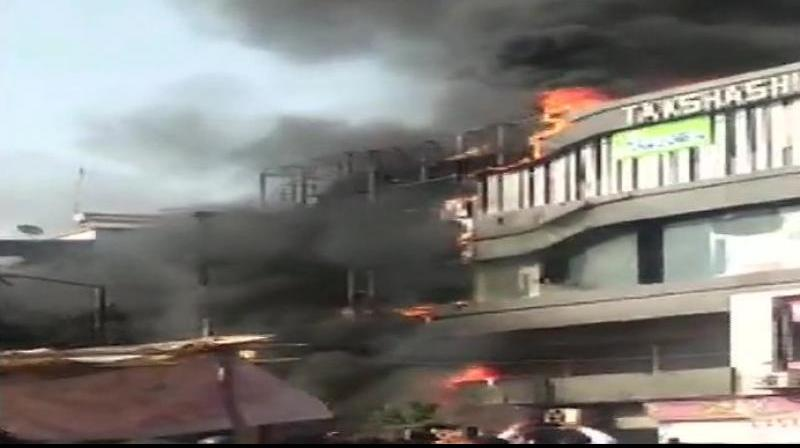 A massive fire engulfed a multi-storey building, housing a coaching centre, located in the Sarthana area here and claimed as many as 20 lives, including that of several students. (Photo: File)
