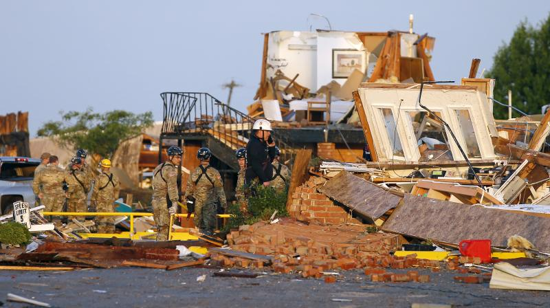 The two people who were killed were in the mobile home park, White said. (Photo:AP)