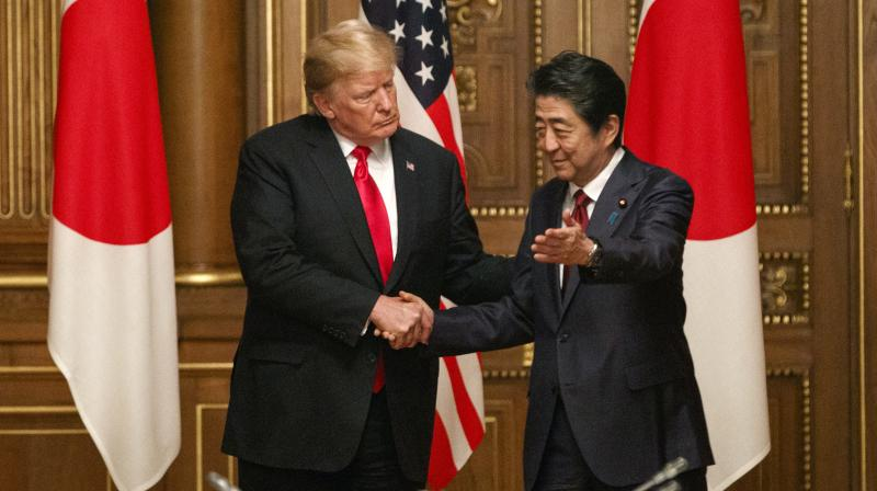 On Sunday, Trump tweeted that he expected big moves on trade would wait until after Japan's upper house election in July. (Photo:AP)