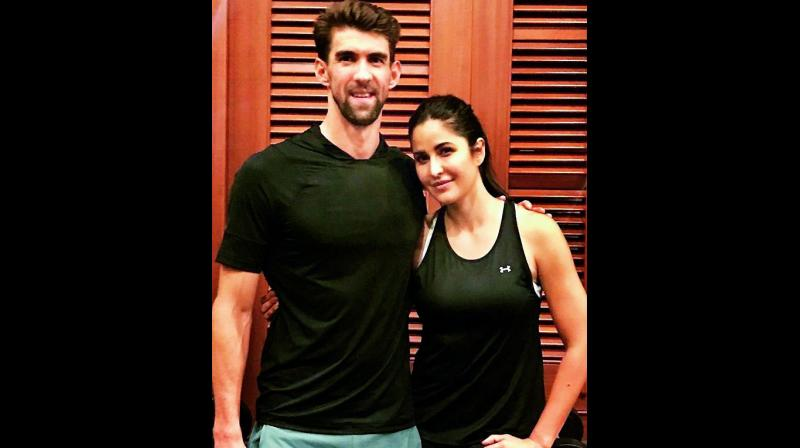Katrina Kaif gets fitness tips from Michael Phelps