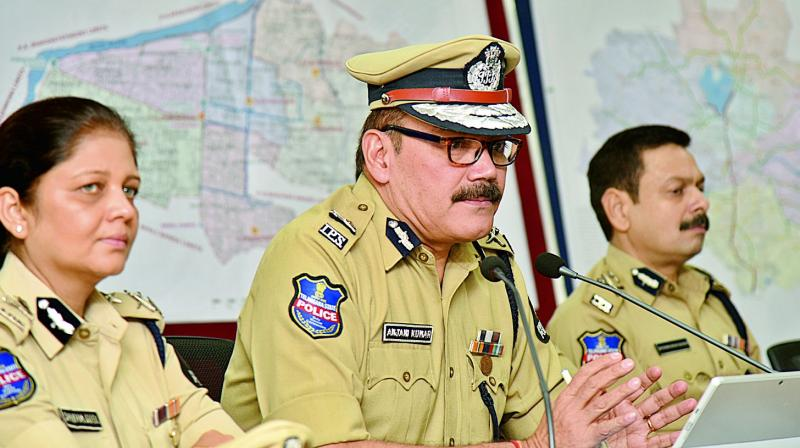 Hyderabad city police commissioner Anjani Kumar (Photo: S. Surender Reddy)
