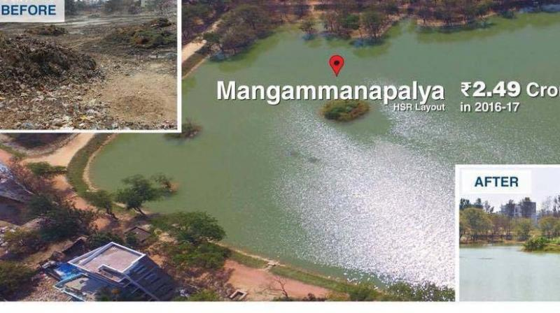 The BBMP, taking advantage of CSR initiatives of several corporate companies, has installed Sewage Treatment Plants (STP) at several lakes.