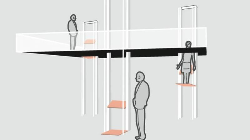 According to designers of vertical walking system, the future will see billions more people moving into urban areas where skyrocketing land prices will force apartment buildings to be built even taller.