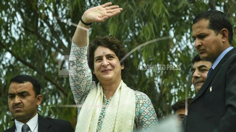 Priyanka Gandhi Vadra made her political debut on Monday with a roadshow drawing thousands in Uttar Pradesh, India's most populous state. (File Photo)