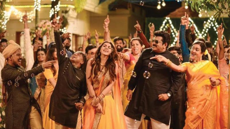 In a recently released song from the movie, Happy Happy Nammal Happy, the duo is seen dancing together during a birthday party. The song is doing the rounds on social media and has amassed 200k views.
