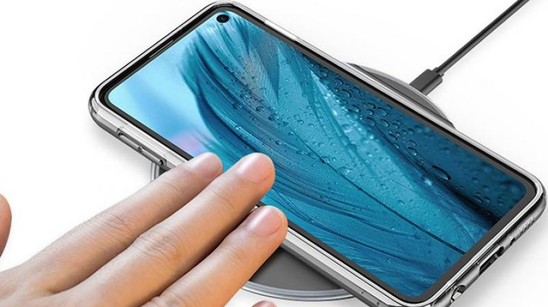 The Samung Galaxy S10 with a punch-hole display.