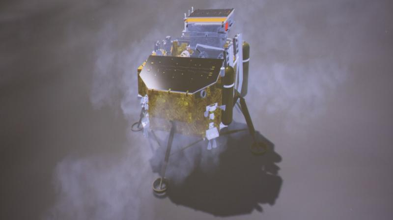 """The landing """"lifted the mysterious veil"""" of the far side of the moon and """"opened a new chapter in human lunar exploration."""""""
