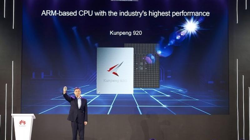Kunpeng 920 integrates 64 cores at a frequency of 2.6GHz.