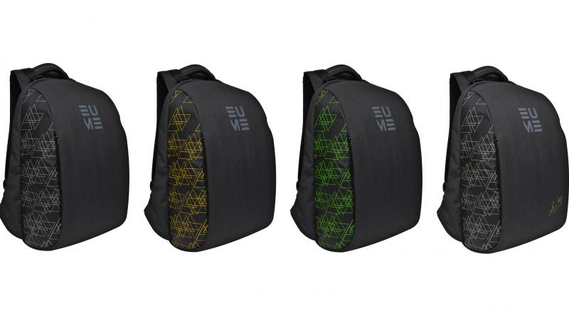 EUME backpacks are ideal for commute and save you from incessant body aches caused by carrying a load on your shoulder.