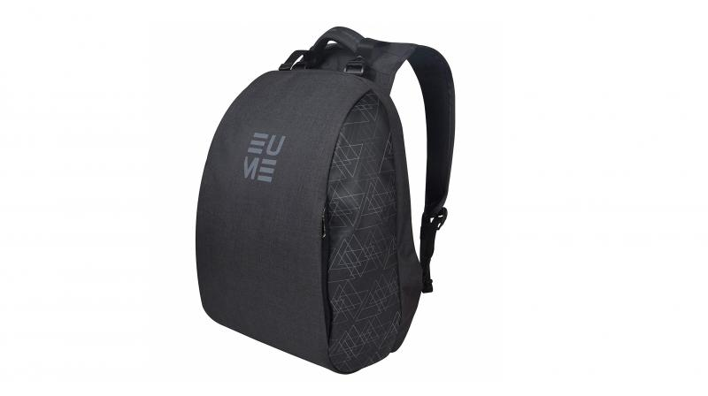 EUME backpack comes in an understated grey.