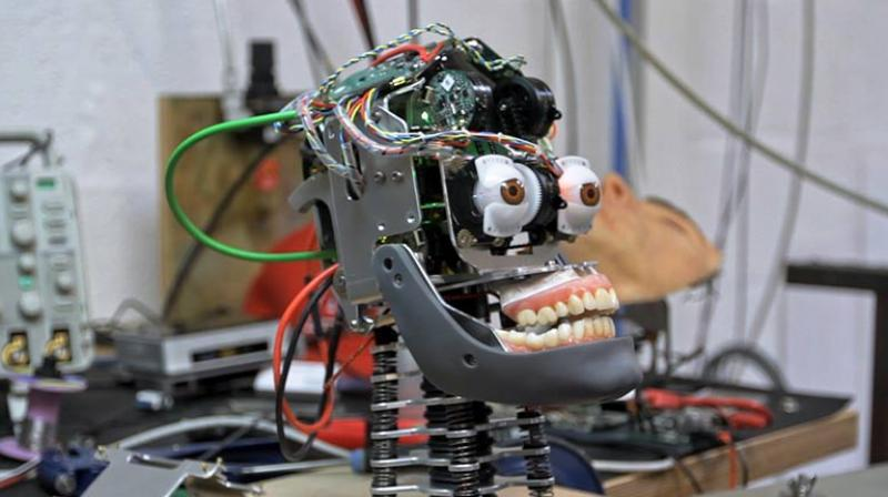 "He calls Ai-Da - named after British mathematician and computer pioneer Ada Lovelace - the world's first ""AI ultra-realistic robot artist"", and his ambition is for her to perform like her human equivalents. (Representational Photo: Engineered Arts)"