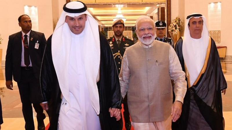 'Political stability, predictable policy framework makes India attractive investment destination,' PM Modi said while interacting with NRI business community in UAE. (Photo: Twitter)