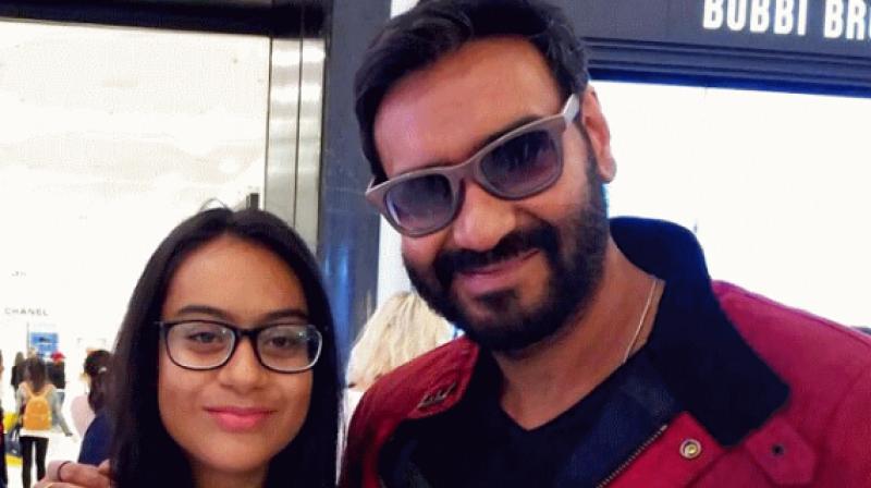 Ajay Devgn and Nysa.