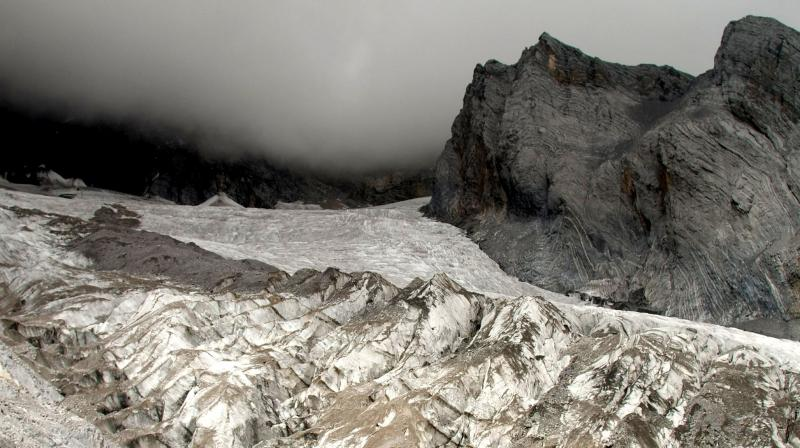 The Baishui glacier on the Jade Dragon Snow Mountain in the southern province of Yunnan in China is one of the fastest melting glaciers in the world as it has lost 60 per cent of its mass since 1982. (Photo: AP)