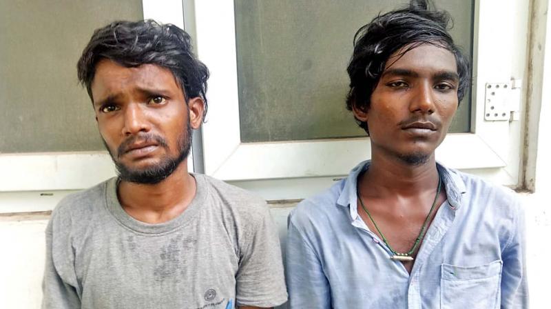 The accused R. Kamesh and Srinath.