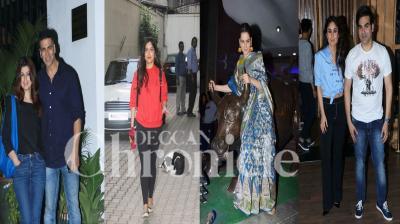 Bollywood stars like Akshay Kumar, Twinkle Khanna, Bhumi Pednekar, Kangana Ranaut, Kareena Kapoor and others were spotted at different places in Mumbai. (Photos: Viral Bhayani)