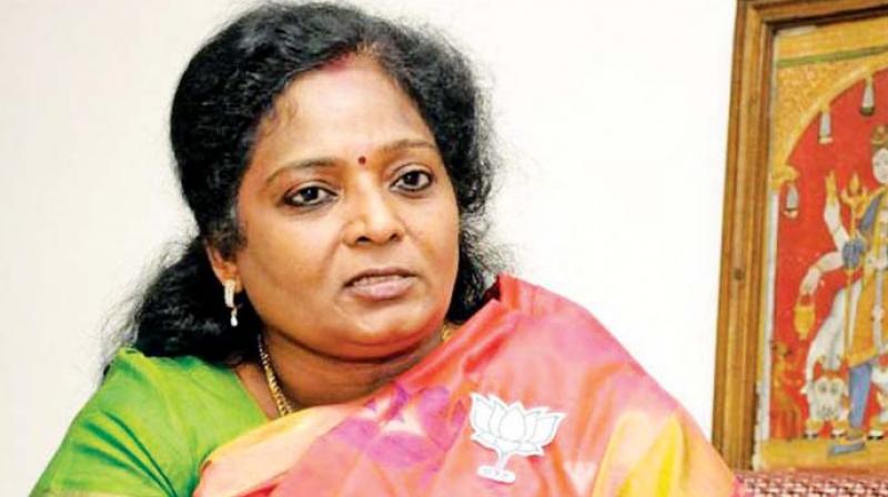 BJP state president Tamilisai Soundararajan