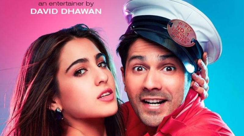 Varun Dhawan shares sizzling poster of 'Coolie No 1' on Sara Ali Khan's birthday