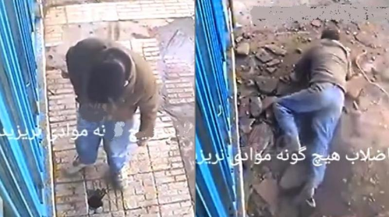 The man was thrown to the ground (Photo: YouTube)