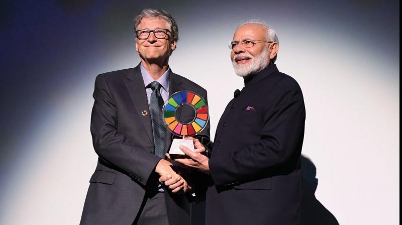 'Campaign has not only improved lives of crores of Indians, but has also played significant role in achieving goals set by UN,' Modi said. (Photo: Twitter)