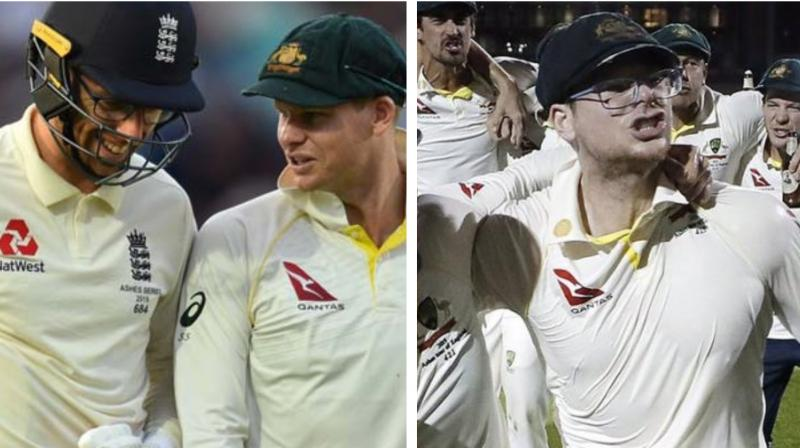 reportedly had tweeted a picture of Jack Leach with Steve Smith and stated, 'One of the greatest batsmen of this generation having a chat with Steve Smith at the Oval this evening.' (Photo:AFP/Twitter)