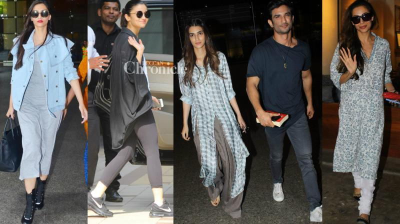 Bollywood stars stepped for various personal and professional commitments and were snapped by the shutterbugs in Mumbai on Thursday. (Photo: Viral Bhayani)