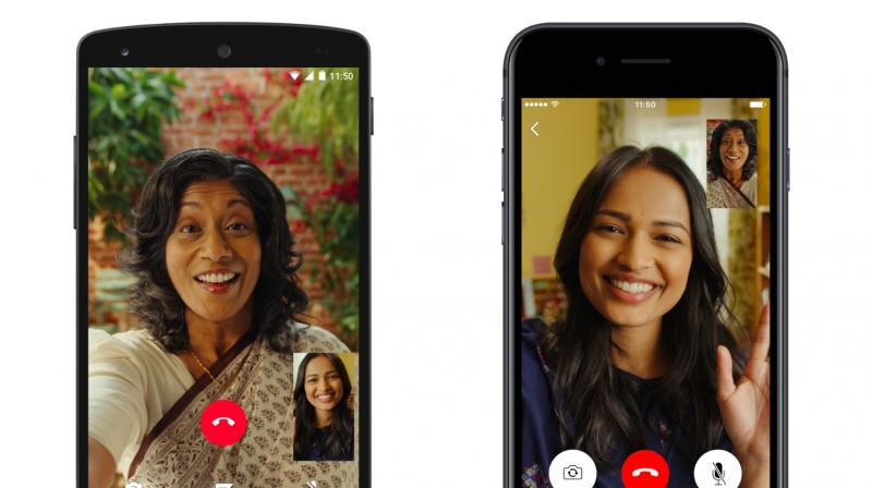 the PiP video calling fetaure could be helpful if you are on a video call with one contact and want to initiate a chat with another contact or view pictures.  (Photo:WhatsApp)