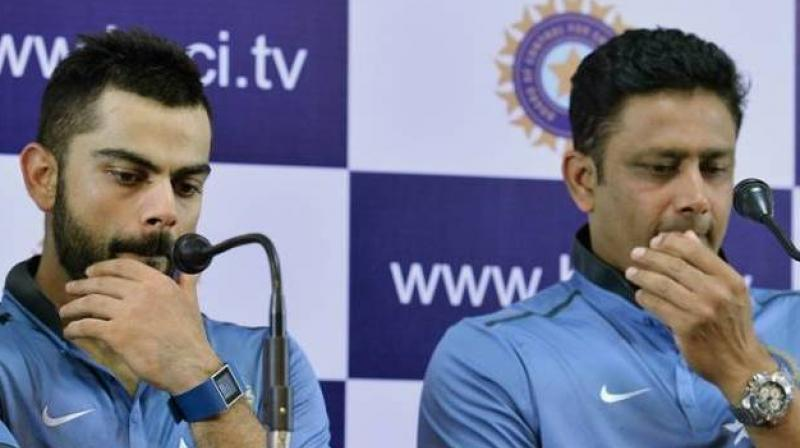 Anil Kumble stepped down from the position of Team India head coach following differences with skipper Virat Kohli. (Photo: AFP)