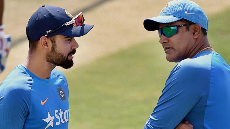 A cluster of big wins in the five-match ODI series and single T20 will help Virat Kohli divert the unnecessary attention pinned on him with many ready to make him the 'fall guy' in the entire Anil Kumble episode. (Photo: PTI)