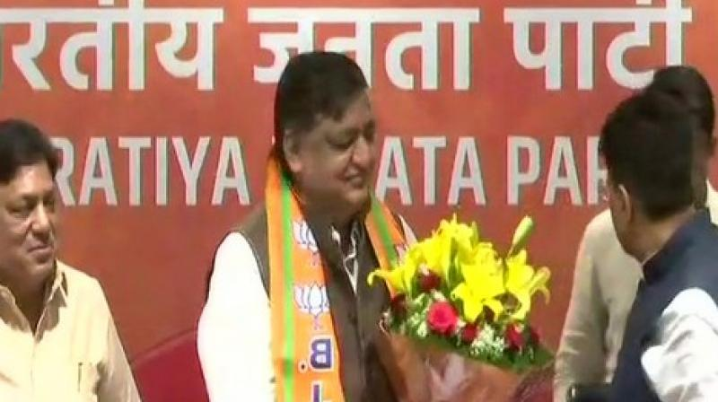 Addressing the press, Agrawal said, 'I just want to serve the BJP, I have no conditions and no demands for a ticket in the Rajya Sabha.' (Photo: ANI)