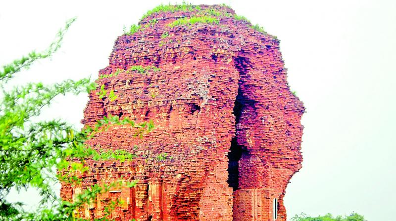The oldest Jain temple made of bricks and terracotta.
