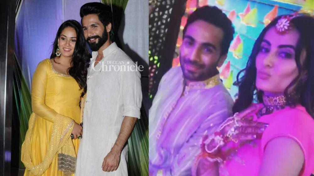 Mehendi Ceremony Look : Shahid mira other stars look elegant at mandana karimi's mehendi