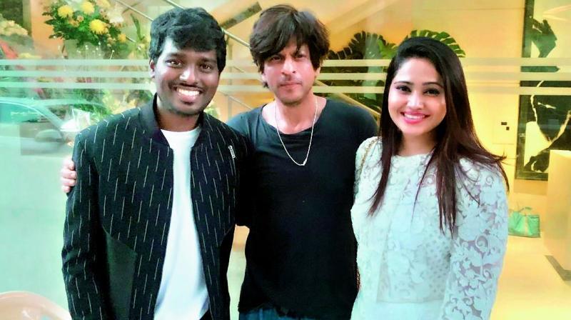 Atlee Kumar, Shah Rukh Khan and Krishna Priya